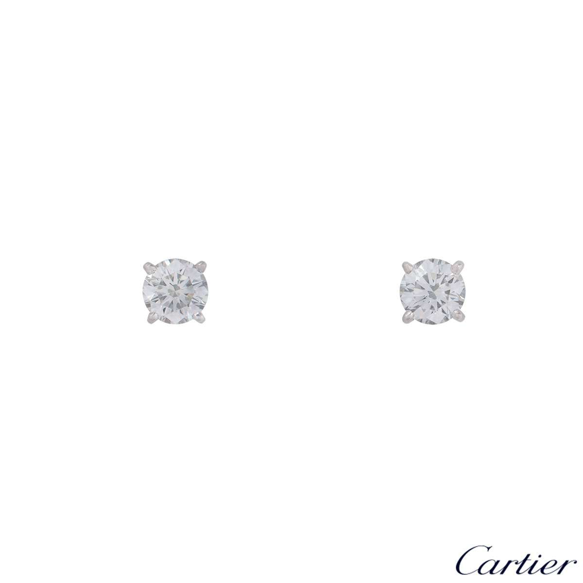 Cartier Platinum Diamond Earrings N8024100